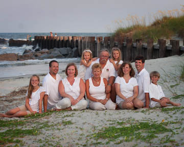 Beach Portrait Of A Family On Folly